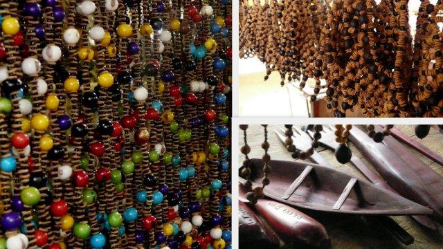 Halsketten aus Açai, Semente und sonstigem Schmuck aus Terra Preta.
