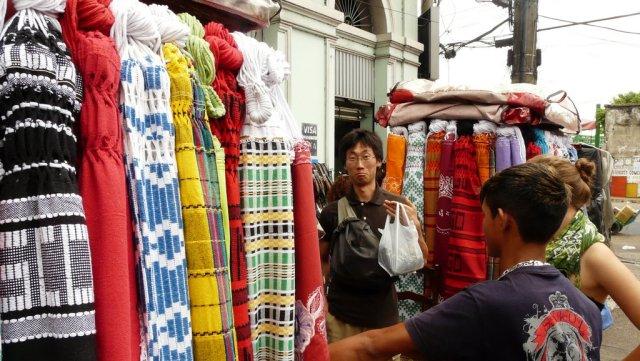 Bei so vielen Hängematten wissen selbst Japaner nicht mehr, welche man nehmen soll.
