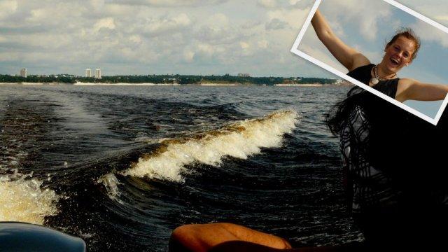 Kein Mensch weiß, wohin es geht. Weg von Manaus und den Rio Negro hoch, so viel kann man sehen. Aber dennoch ist die Bootsfahrt schön.