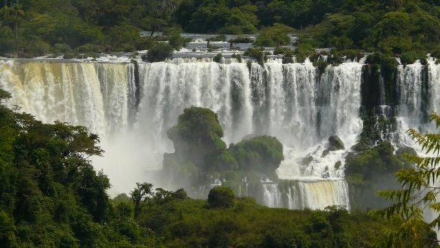 Die Wasserfälle im Nationalpark Iguaçu