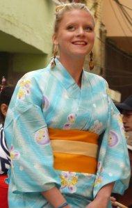 Isabell aus Schweden, hier als Model für japanische Mode.
